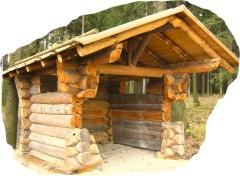 Baumstammblockhaus